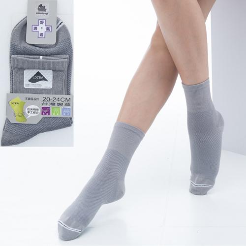 ~KEROPPA~可諾帕舒適透氣減臭短襪x灰色兩雙 男女  C98006
