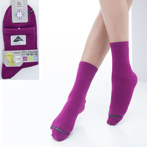 ~KEROPPA~可諾帕舒適透氣減臭短襪x紫紅兩雙 男女  C98006