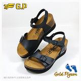 【G.P 休閒個性柏肯鞋】W768-10 黑色 (SIZE:35-39 共二色)