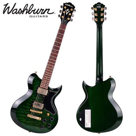 ★展示品出清★韓廠Washburn WI-64DL電吉他(雲狀紋綠)