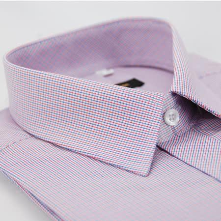 【金安德森】紅x藍細格紋窄版長袖襯衫
