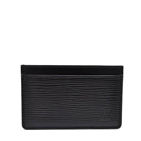 Louis Vuitton LV M63512 EPI 水波紋皮革信用卡名片夾.黑_預購