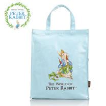 【クロワッサン科羅沙】Peter Rabbit~ 比得兔吃紅蘿蔔手提袋大 淺藍色