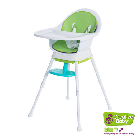 【Creative Baby】創寶貝-三合一成長型餐椅 綠色 (Sprout 3 in 1 Hi-Lo Chair)