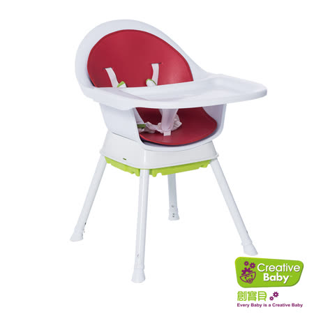 【Creative Baby】創寶貝-三合一成長型餐椅 紅色 (Sprout 3 in 1 Hi-Lo Chair)