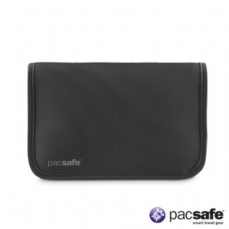 Pacsafe RFID-TEC175 安全拉鍊式護照錢包(灰黑)