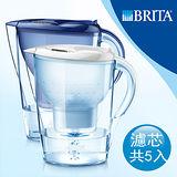 【德國BRITA】Marella 馬利拉3.5L濾水壺+MAXTRA四入濾芯 (本組合共5入濾芯)