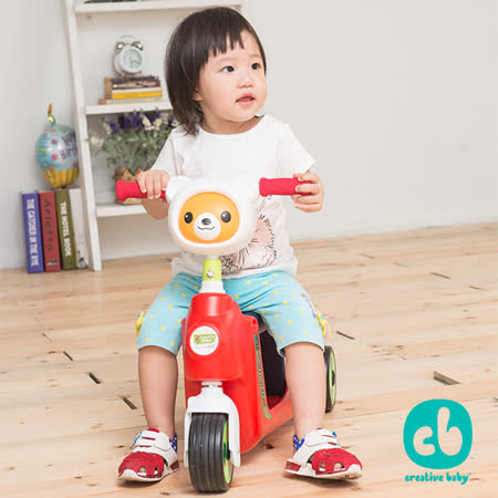 Creative Baby創寶貝_walk in love系列 國民版多功能滑板車/嚕嚕車 紅色(First Slider)