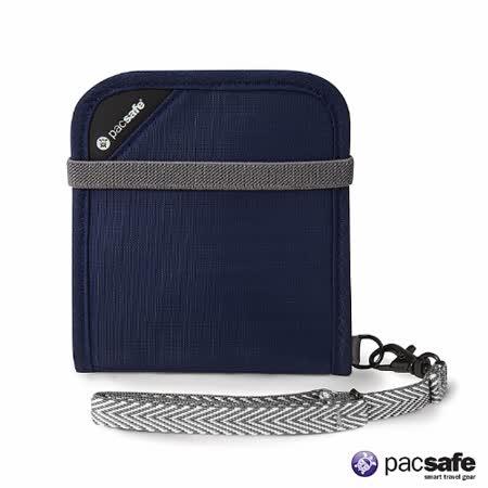 Pacsafe RFIDSAFE V100防盜皮夾(深藍色)