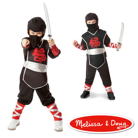 美國瑪莉莎 Melissa & Doug 角色扮演 兒童變裝服-忍者服
