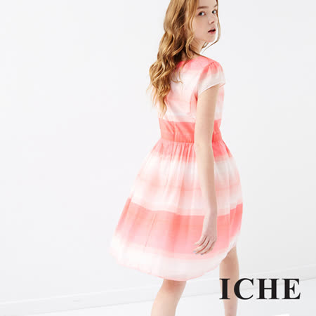 ICHE 衣哲 漸層印花洋裝