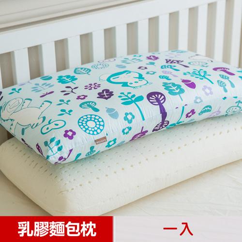 ~奶油獅~好朋友系列~大人用^~馬來西亞 100^%純天然麵包 乳膠枕^(水漾藍^)1入