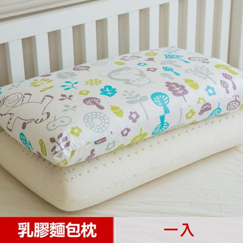 ~奶油獅~好朋友系列~大人用^~馬來西亞 100^%純天然麵包 乳膠枕^(白森林^)1入