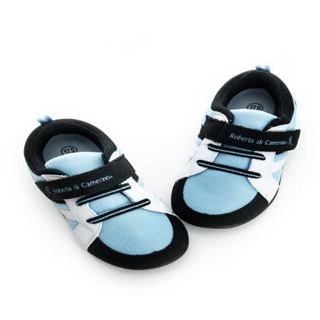 Roberta諾貝達 抗菌防臭鞋墊健康矯正機能休閒鞋 614908-水