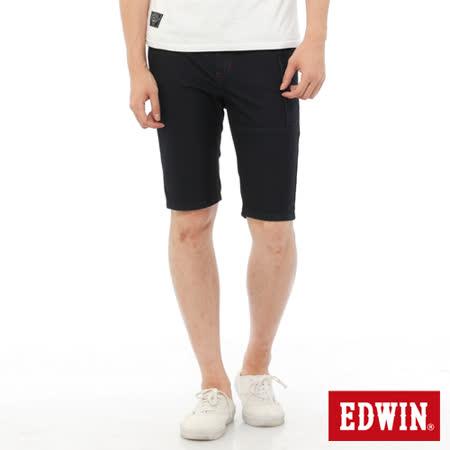 EDWIN 迦績褲JERSEYS工作牛仔短褲-男-原藍色