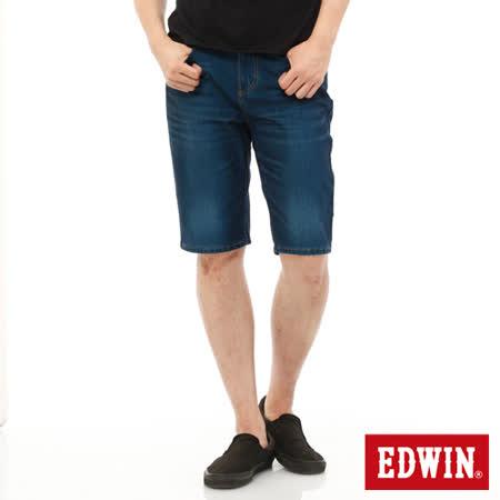 EDWIN 迦績褲JERSEYS內藏腰頭牛仔短褲-男-酵洗藍