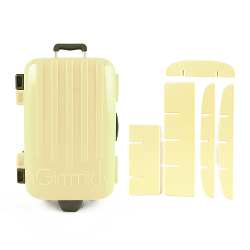 【iGimmick】魔術高島屋分裝收納盒- 米白行李箱