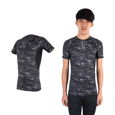(男) UNDER ARMOUR UA HG ARMOUR 花色短袖T恤 黑灰