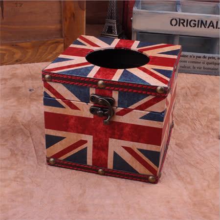 PUSH! 居家生活用品 英倫風 紙巾盒 面紙盒 衛生紙抽取收納盒(餐桌紙巾型)I33