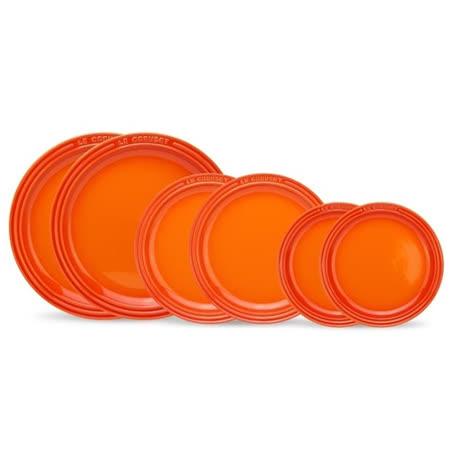 【LE CREUSET】瓷器圓盤組合19/23/27cm 各2入 (火焰橘)
