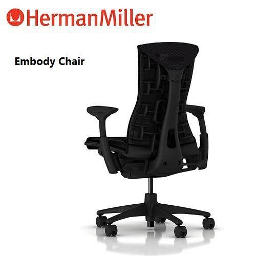 Herman Miller 人體工學椅~Embody Chair 黑框黑厚布款