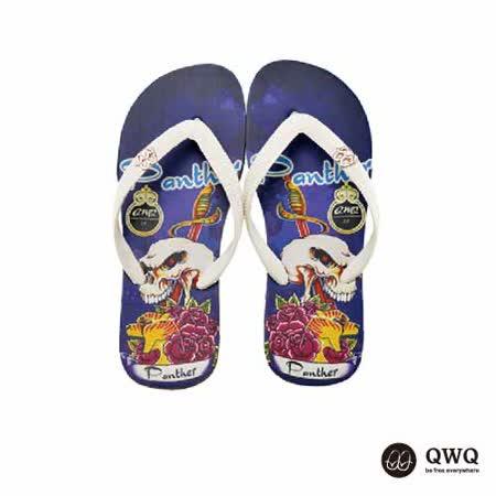 【QWQ】創意設計夾腳拖鞋-Panther-黑b(男款)
