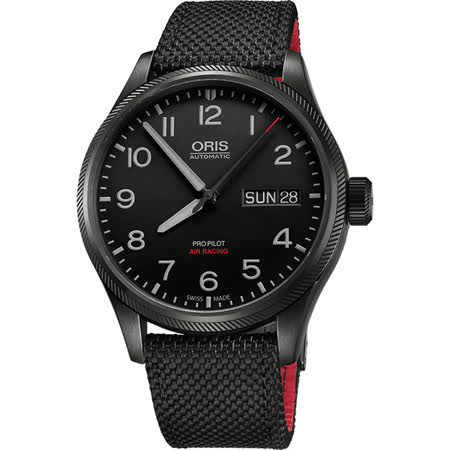 Oris Air Racing Edition V 飛行賽紀念限量錶-黑/45mm 0175276984784-Set
