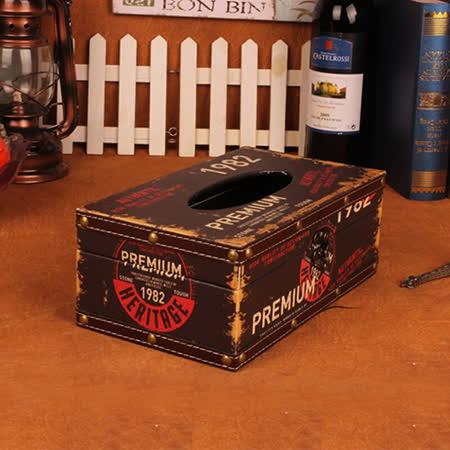 PUSH! 居家生活用品 復古1982 紙巾盒 面紙盒 衛生紙抽取收納盒I34