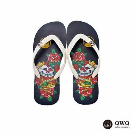 【QWQ】創意設計夾腳拖鞋-雙頭愛-黑b(男款)