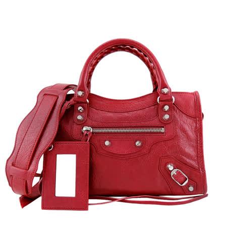 【好物分享】gohappy線上購物BALENCIAGA 巴黎世家Mini City 銀釦機車包(紅)去哪買愛 買 復興 店