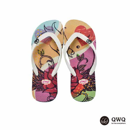 【QWQ】創意設計夾腳拖鞋-雀兒喜-黑(男款)