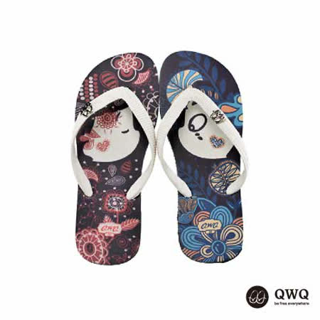 【QWQ】創意設計夾腳拖鞋-Melody-黑(男款)