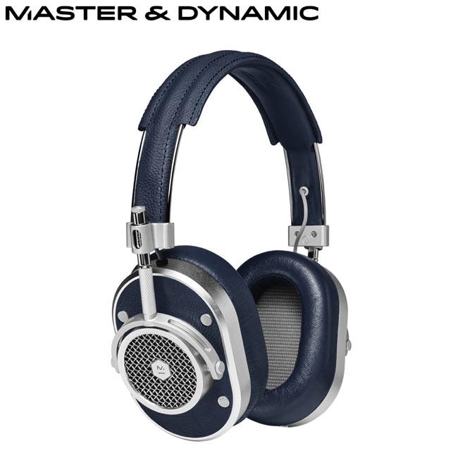 Master Dynamic高階耳罩式耳機^(MH40^)^(深藍銀^)送藍芽智慧拍照遙控