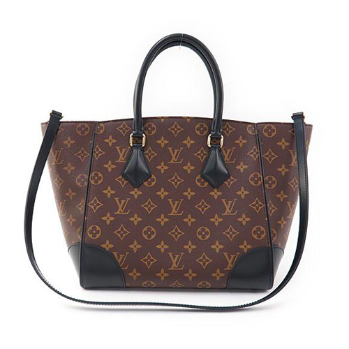 Louis Vuitton LV M41542 Phenix MM 花紋兩用仕女包.黑_