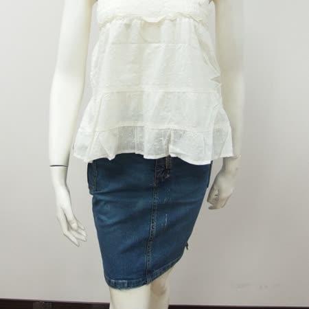 日本CIELO 現貨-兩側口袋牛仔窄裙-藍M-品特
