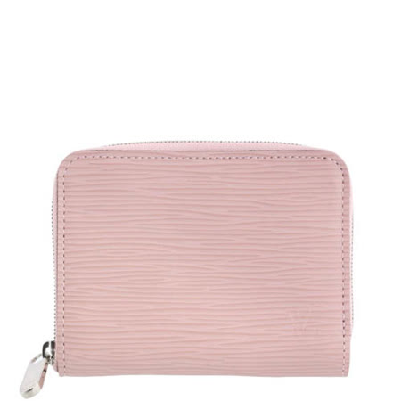 Louis Vuitton LV M61206 EPI 質感皮革壓紋信用卡拉鍊零錢包.粉_預購