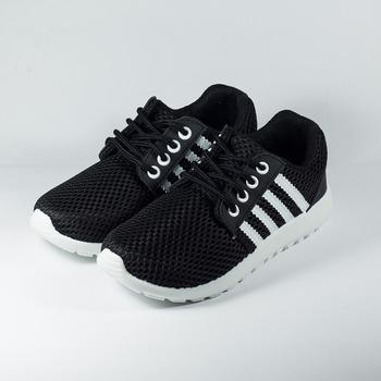 (女) GIOVANNI VALENTINO 洞洞網布透氣休閒鞋 黑白 鞋全家福