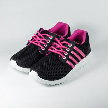 (女) GIOVANNI VALENTINO 洞洞網布透氣休閒鞋 黑桃 鞋全家福