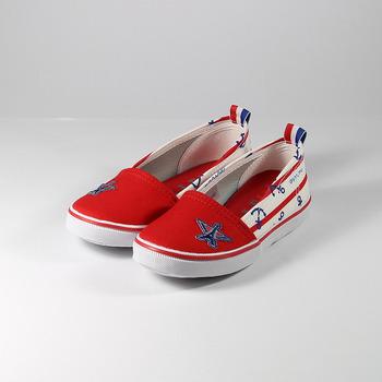 (中大童) ELLE 海洋風帆布鞋 粉 鞋全家福