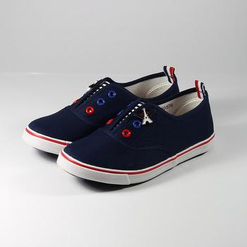 (中大童) ELLE 海洋風帆布鞋 藍 鞋全家福