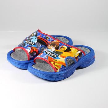 (中大童) 機器戰士 拖鞋 藍銀 鞋全家福