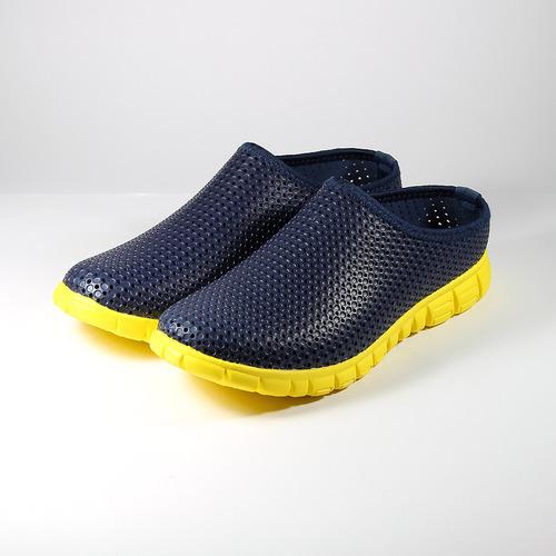 (男) 母子鱷魚 洞洞鞋 藍 鞋全家福
