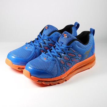 (男) DIADORA 2956全氣墊慢跑鞋 藍桔 鞋全家福