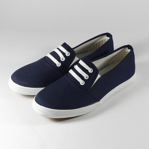 女  GIOVANNI VALENTINO 鞋帶套式休閒鞋 深藍 鞋全家福