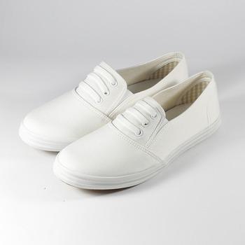(女) GIOVANNI VALENTINO 鞋帶套式休閒鞋 白 鞋全家福
