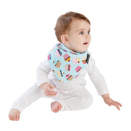 【Mum 2 Mum】雙面時尚造型口水巾圍兜-蛋糕/藍