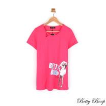 【Betty Boop貝蒂】挖洞剪裁膠印傘狀長版上衣(共二色)