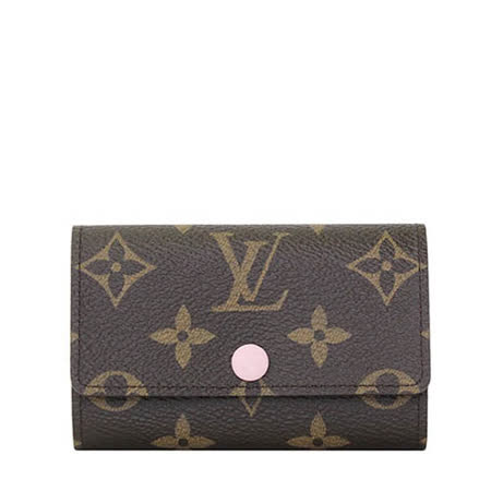 Louis Vuitton LV M61285 經典花紋六扣鑰匙包.粉紅_預購