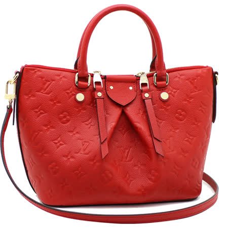 Louis Vuitton LV M50638 Mazarine PM 經典花紋全皮革兩用托特包.紅_預購