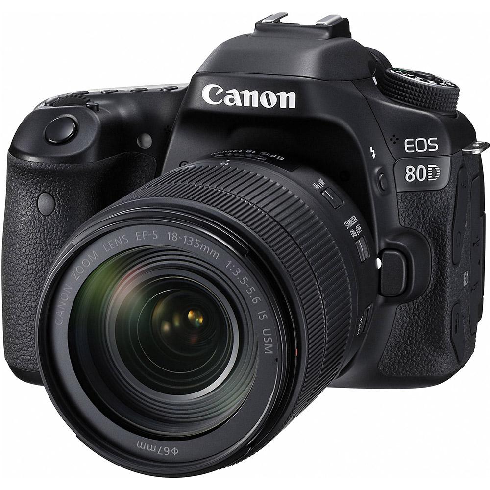 Canon EOS 80D 18-135mm IS USM (公司貨)-加送64G記憶卡+專用電池X2+專用快門線+專用遙控器+保護鏡+大吹球清潔組+拭鏡筆+熱靴蓋+HDMI+專用相機包